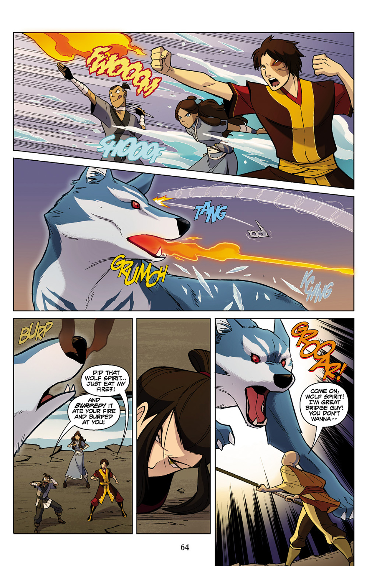 Read online Nickelodeon Avatar: The Last Airbender - The Search comic -  Issue # Part 1 - 65