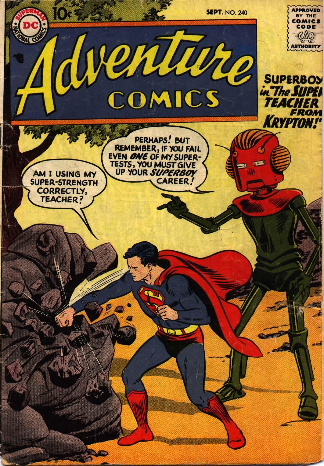 Read online Adventure Comics (1938) comic -  Issue #240 - 1