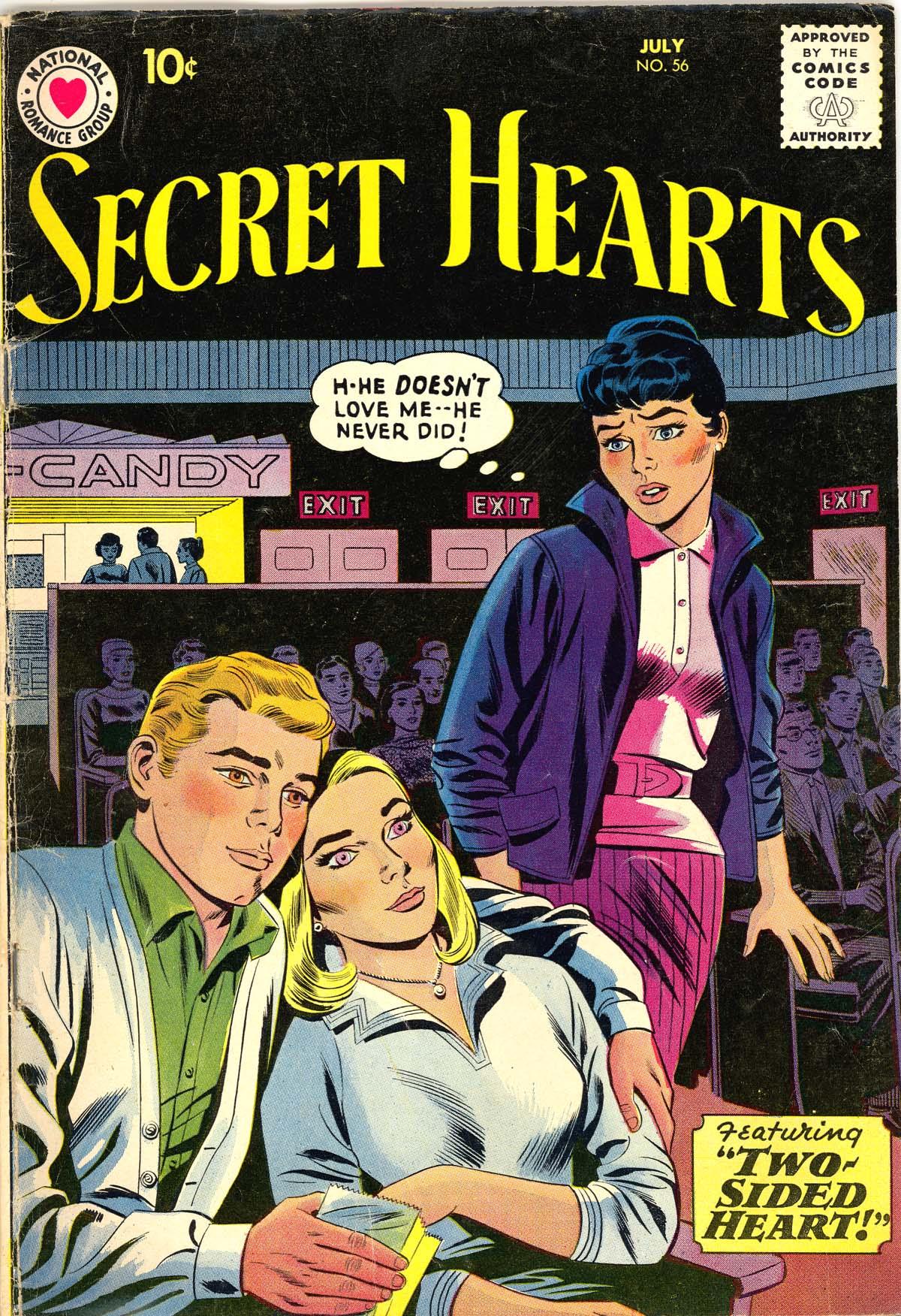 Read online Secret Hearts comic -  Issue #56 - 1