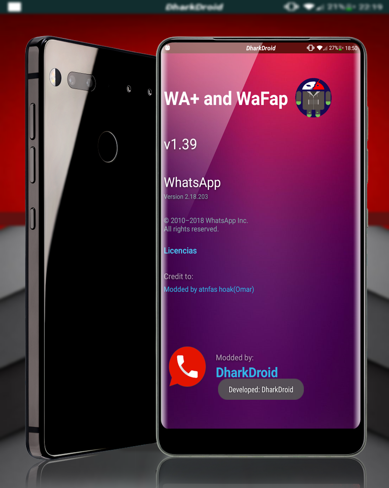 Download WhatsApp Plus v1.39 Latest Version By DharkDroid