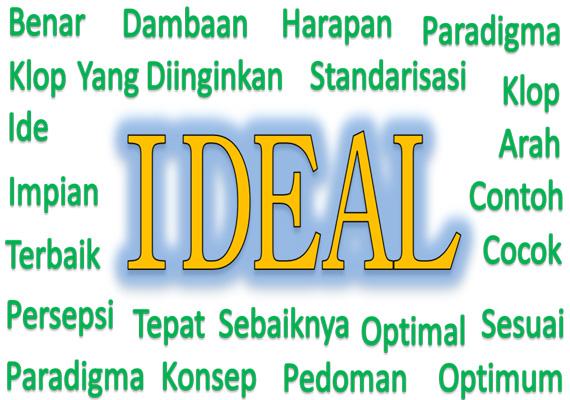 Kita tentu sering mendengar atau bahkan mengucapkan Kata Ideal Arti kata IDEAL beserta contoh kalimat dan penjelasannya