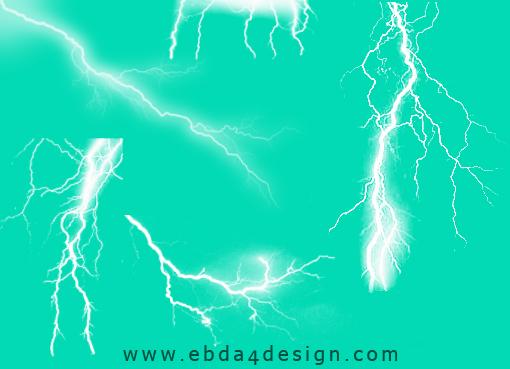 تحميل فرش برق ورعد للفوتوشوب مجاناً, Photoshop Brushs free Download, Lightning and Thunder Photoshop Brushs free Download