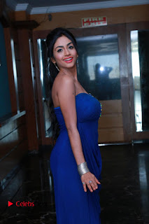 Pooja Sree Pictures in Blue Long Dress at Chocolate Boy Friendship Day Event ~ Celebs Next