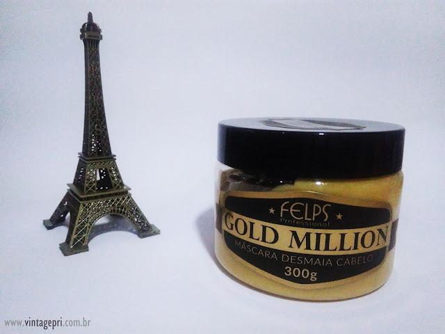 #Testei: Máscara Gold Million Desmaia Cabelo (Felps Professional)