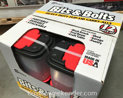 Costco 1136778 - Buddeez Bits & Bolts Carry-All Storage Bins: practical and great for any garage