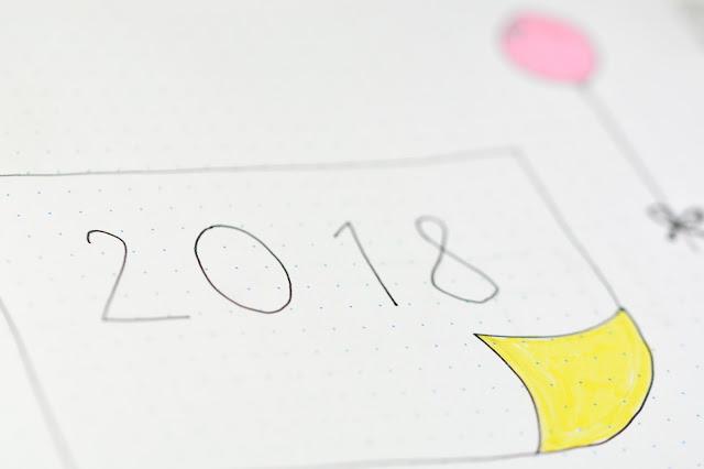 Bullet Journal 2018, podsumowanie starego roku, plany na nowy.