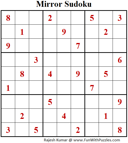 Mirror Sudoku (Fun With Sudoku #175)
