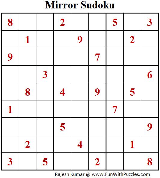 Mirror Sudoku (Fun With Sudoku #175)