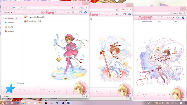 Windows 10 Ver. 1803 Theme Cardaptor Sakura by Enji Riz