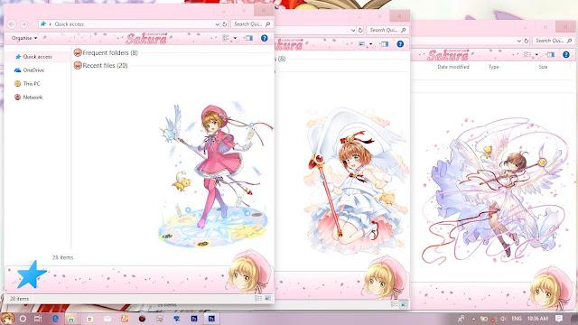 Windows 10 Ver. 1709 Theme Cardaptor Sakura by Enji Riz