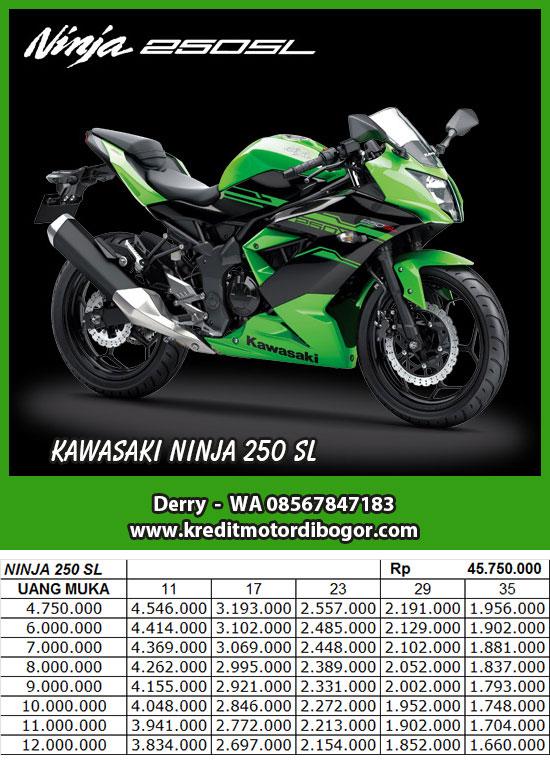 Daftar Harga Kredit Motor Kawasaki Ninja 250 SL di Bogor