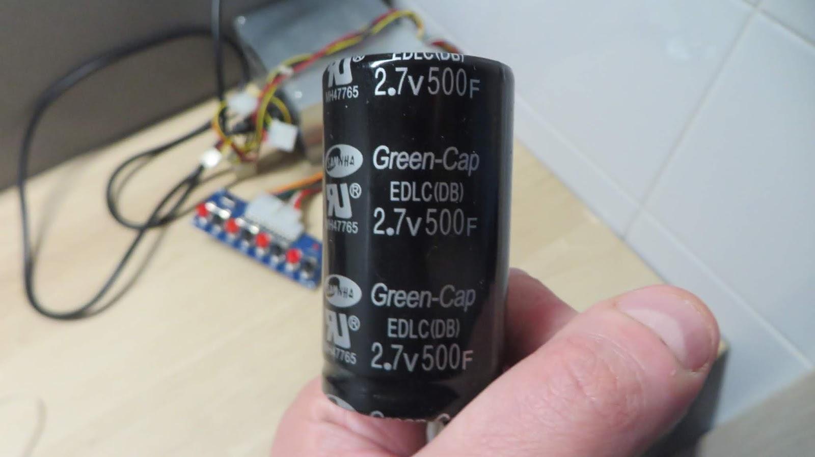 Charging and discharging a supercapacitor, calculating real capacity