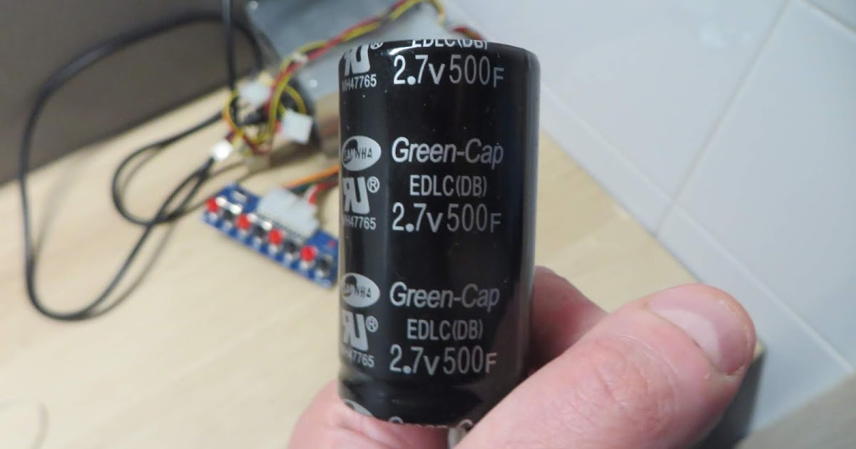 Charging and discharging a supercapacitor, calculating real