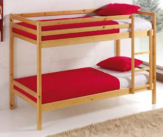 Cama litera fija, cama litera pino, cama 2 pisos niño, cama alta, cama litera convertible