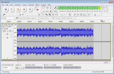 برنامج فصل الصوت عن الموسيقي Audacity