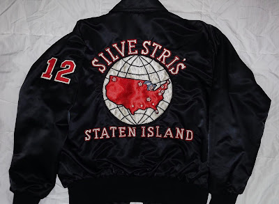 Silvestri's team jacket photo... sent to me from the guy who wore number 12. Can you remember who that was?? Hint: He was a First Team All American in 1986!