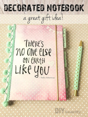 Decorate a notebook for a teenager | DIY beautify