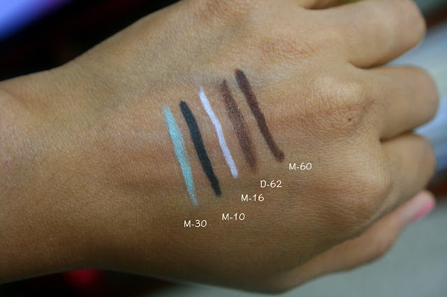 Make Up For Ever Aqua XL Eye Pencils Swatches