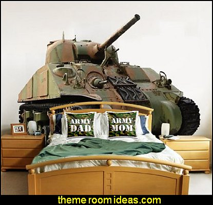Army Front Tank Wall Decal  Army Mom Green Camouflage throw pillow Army Dad Green Camouflage