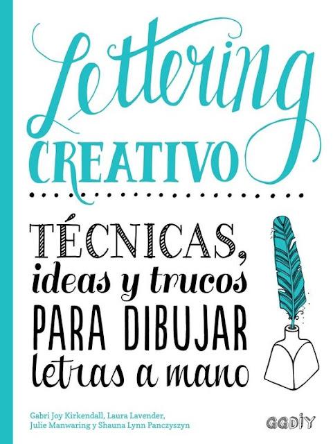 Libro lettering decorativo
