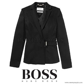 Queen Letizia wore Hugo Boss Jesila Fashion show blazer