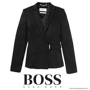Queen Letizia wore Hugo Boss Jesila Fashion show blazer