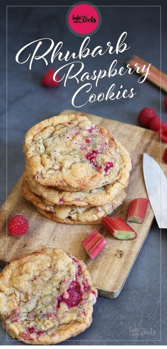 Rhubarb Raspberry Cookies