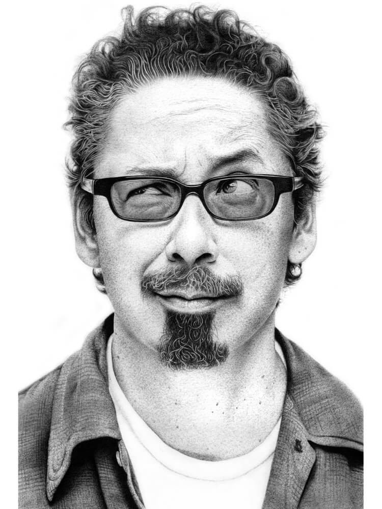 06-Tommy-Guerrero-Paul-Kobriger-Ballpoint-Pen-Portrait-Drawings-Stippling-and-Scribble-www-designstack-co