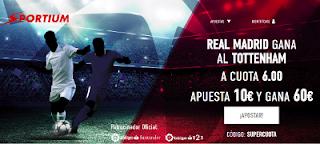 Sportium Supercuota 6 Real Madrid vs Tottenham 17 octubre
