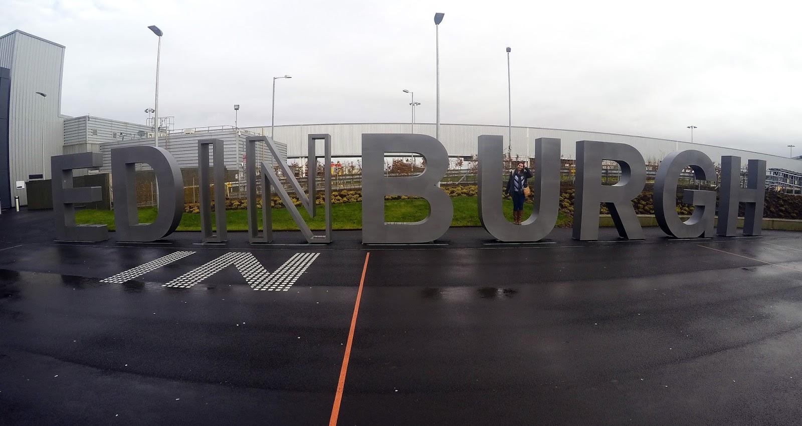 Edinburgh Airport Sign