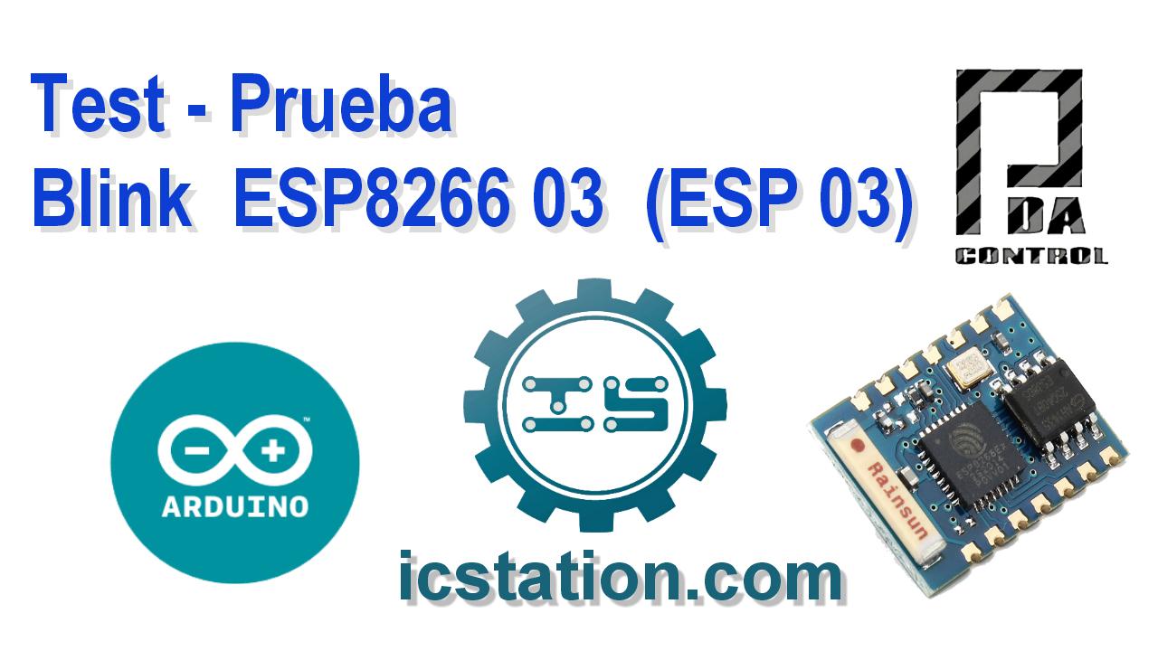Blink ESP8266 03 ESP 03 in Arduino IDE - PDAControl