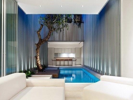 Modelo piscina moderna