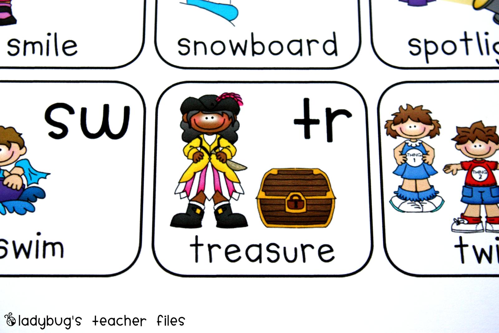 small resolution of Consonant Blends Chart {printable}   Ladybug's Teacher Files