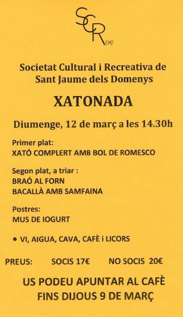 Xatonada SRC Sant Jaume dels Domenys, diumenge 12 de març 2017
