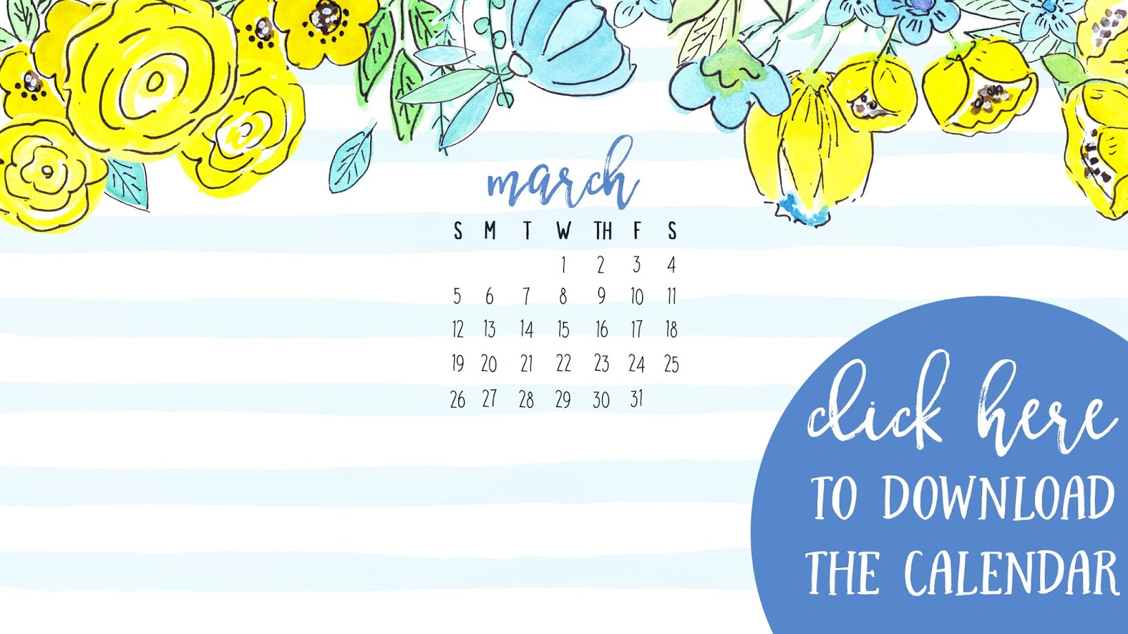 March 2017 Desktop Calendar Free Download • I Teach. What's Your Superpower?