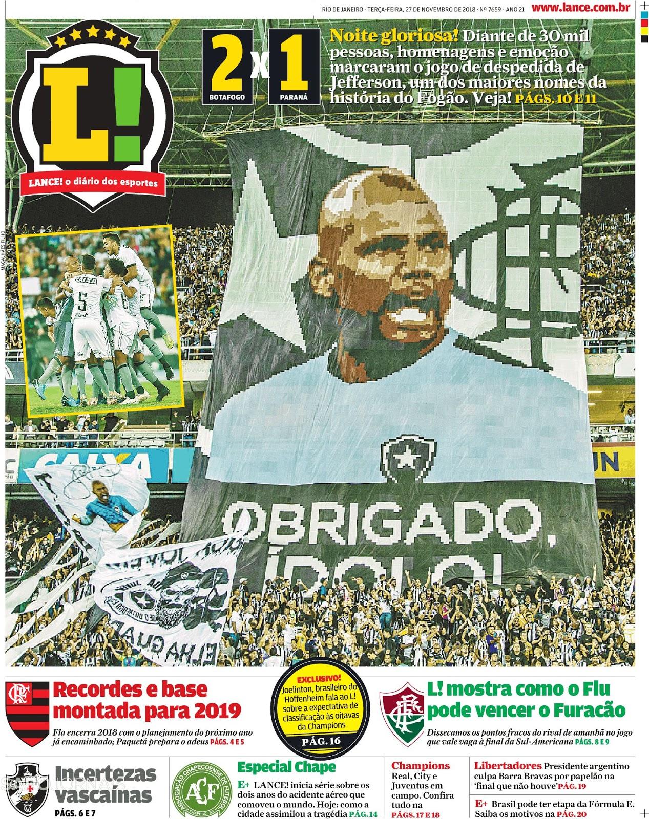 f41890a11791d Botafogo supera Paraná na despedida do goleiro Jefferson