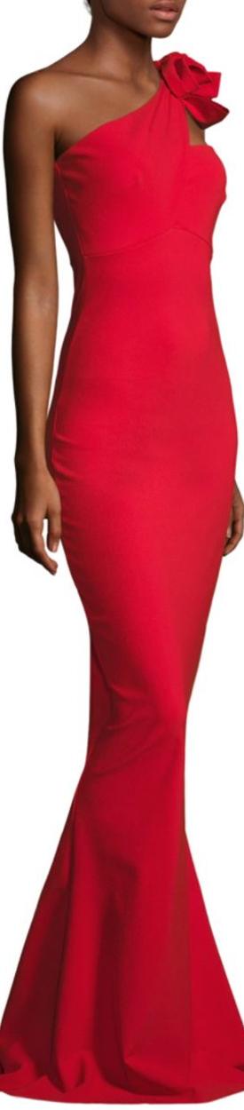 La Petite Robe di Chiara Boni Asymmetrical One Shoulder Gown