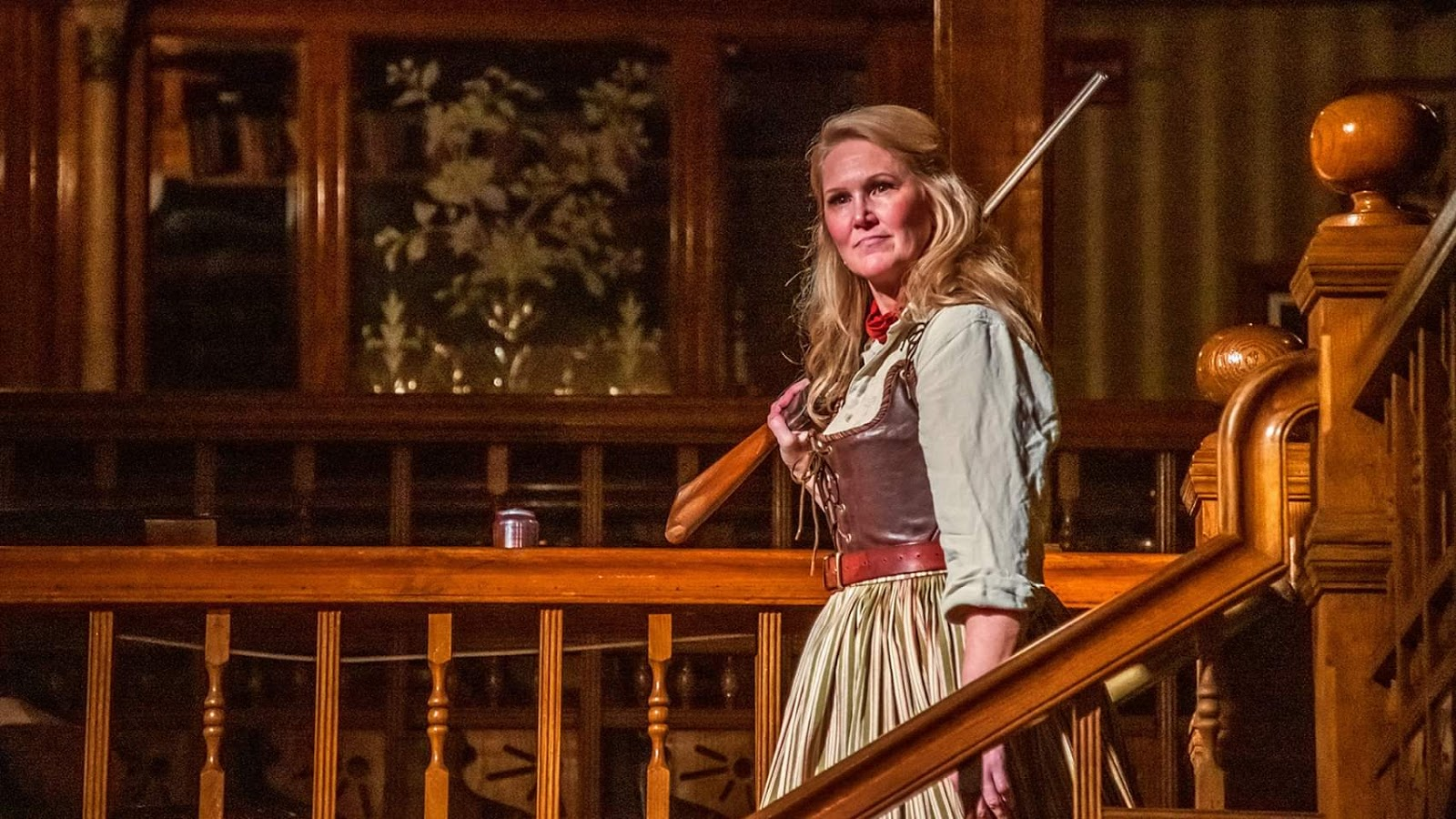 IN PERFORMANCE: soprano AMY COFIELD as Minnie in Opera Orlando's February 2020 Opera on the Town production of Giacomo Puccini's LA FANCIULLA DEL WEST [Photograph by Brion Price Photography, © by Opera Orlando]