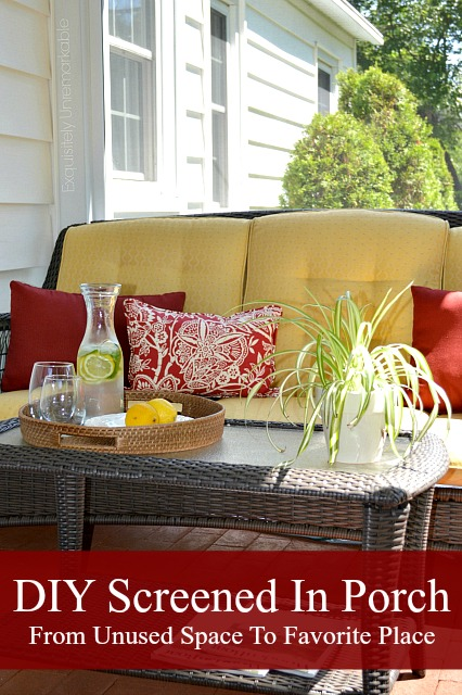 DIY Covered Screened In Porch Decor
