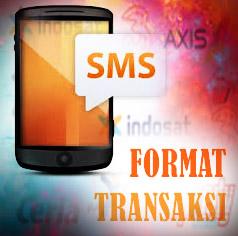 format transaksi sms pulsa