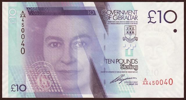 Gibraltar Banknotes 10 Pounds banknote 2010 Queen Elizabeth II