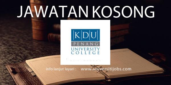 Jawatan Kosong KDU University College 2016