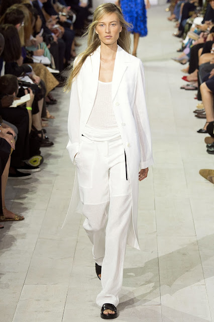 Michael Kors Collection SS 2016 white coat