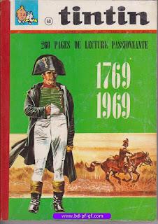 Tintin recueil souple, numéro 60, année 1969, à restaurer