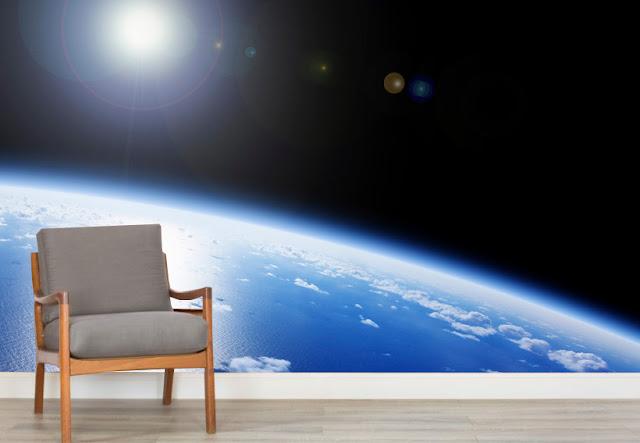 3D Tapetti Maisematapetti Avaruus Maa
