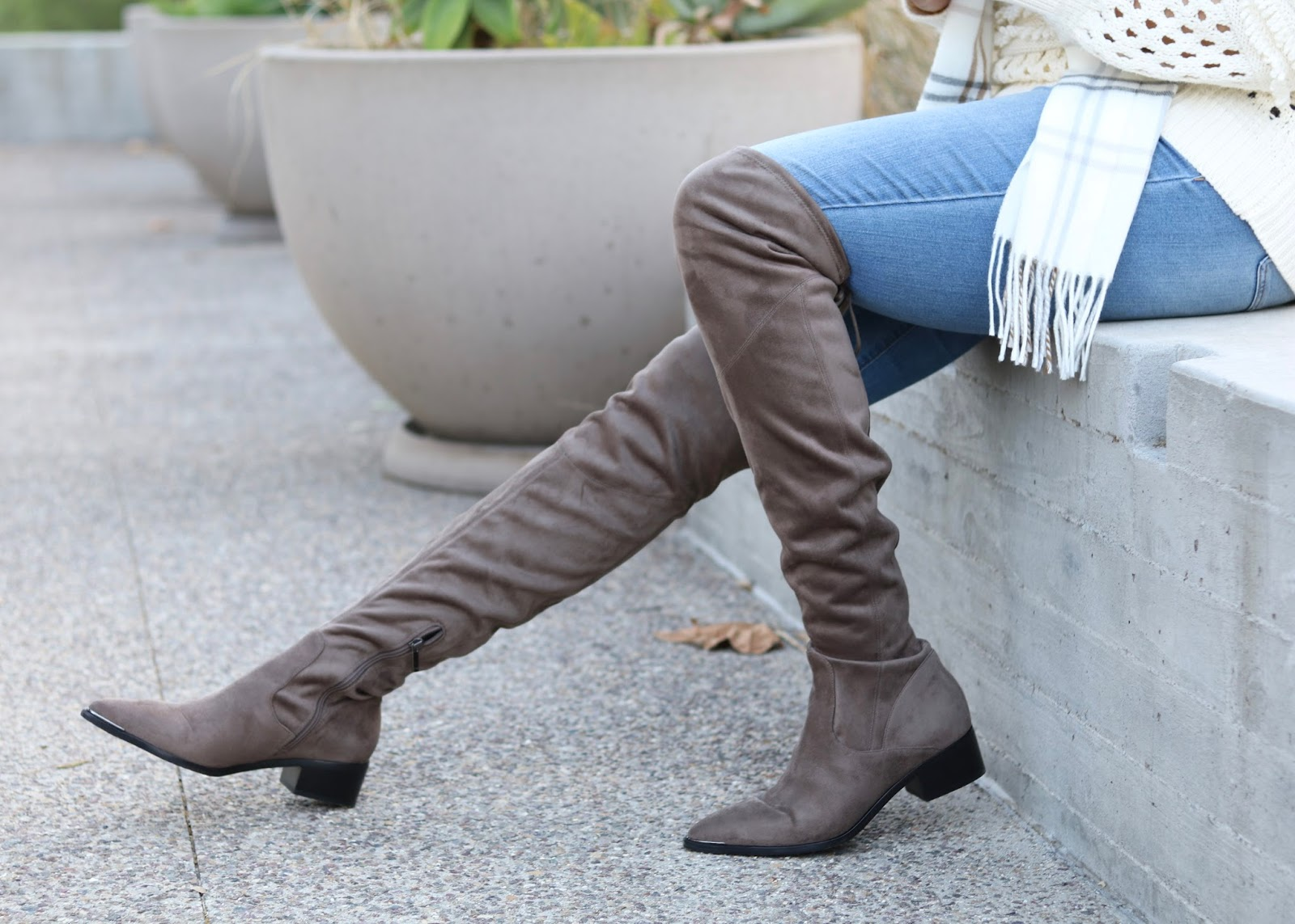 marc fisher taupe boots, marc fisher over the knee boots, taupe over the knee boots