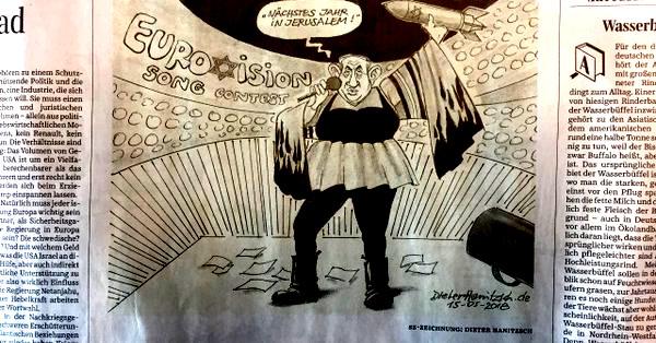 """Süddeutsche Ztg feuert langjährigen Zeichner wegen """"Stürmer""""-Karikatur von Satanjahu"""