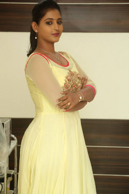 Teja Reddy Lemon Yellow Dress Photo Shoot Stills