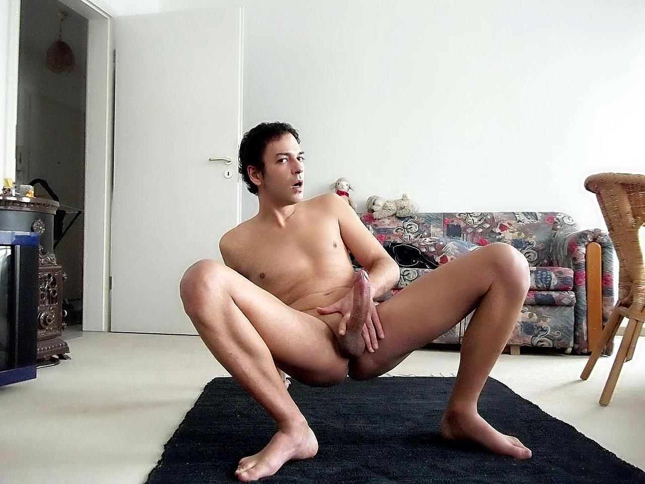 Casual nude men