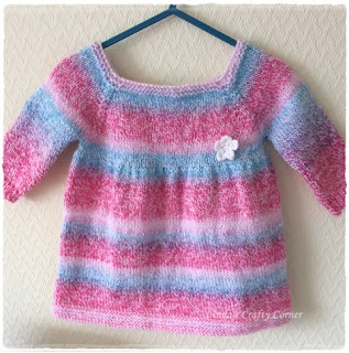 knitted dress baby easy cute variegated yarn